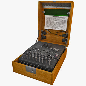 3d encryption machine military model