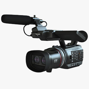 panasonic hdc z10000 hd 3d model