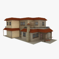 3d model of residential house duplex