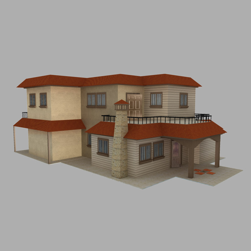 3d model of residential house duplex