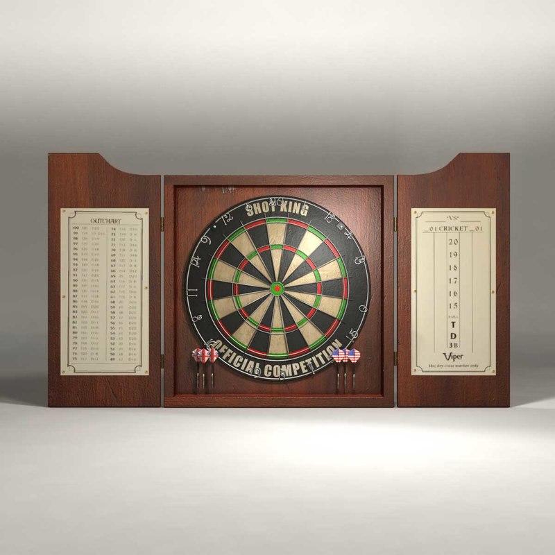 darts board 3d 3ds