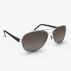 aviator style sunglasses glasses 3d model
