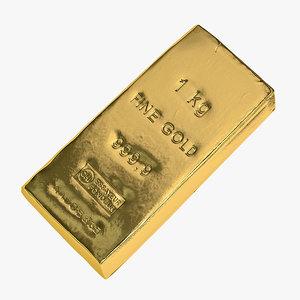 3ds max gold bar kilobar