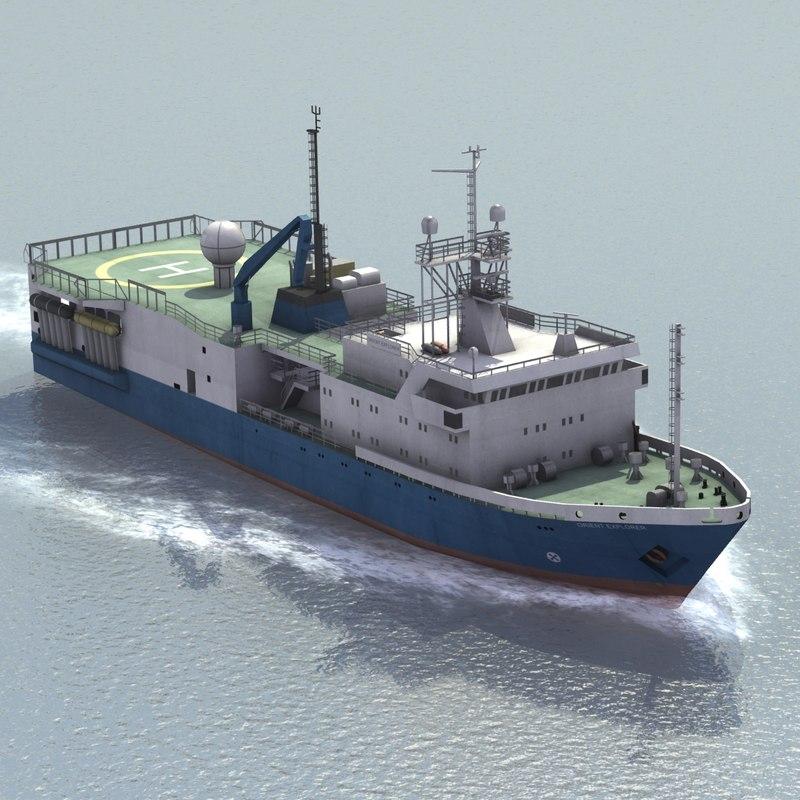3d orient oil survey ship
