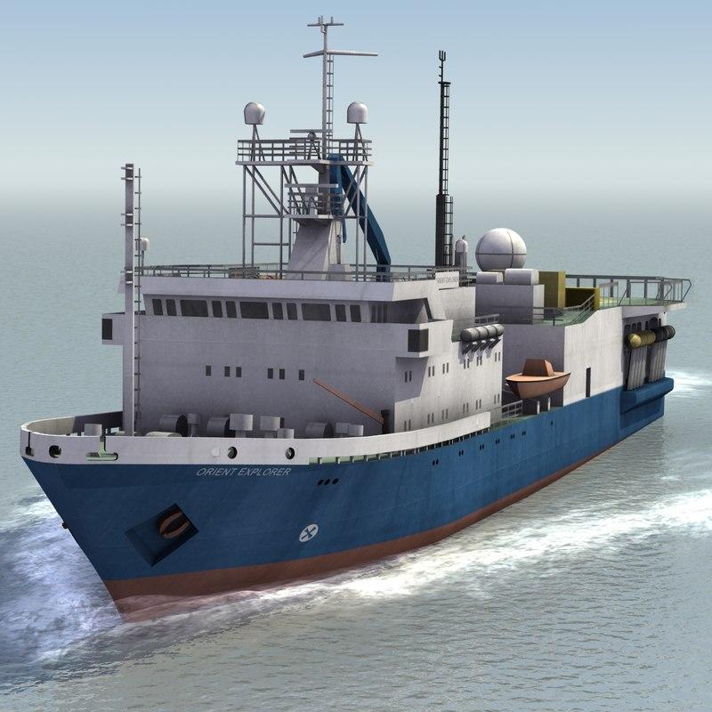 3d 3ds orient survey ship