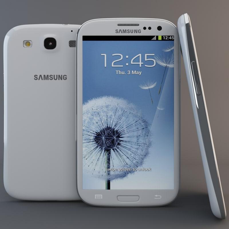 3d white samsung galaxy s