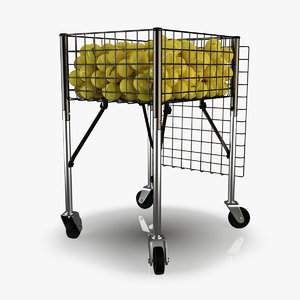 3d wilson tennis ball cart