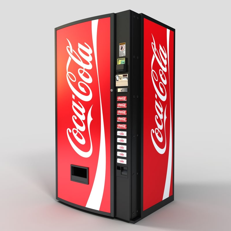 soda machine obj
