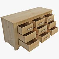 3d 3ds sideboard dresser