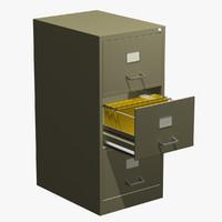 metal filing cabinet 3d max
