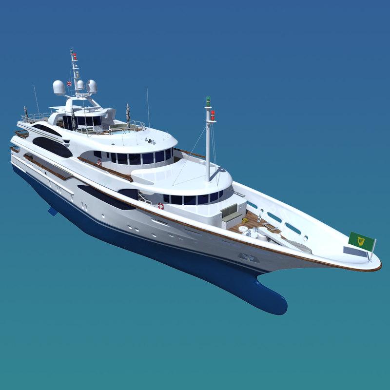 3d model of galaxy super yacht