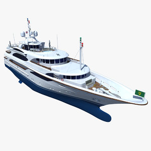 3d model of galaxy super yacht