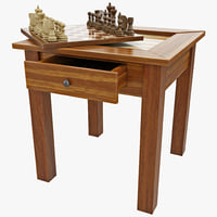 chess backgammon table max