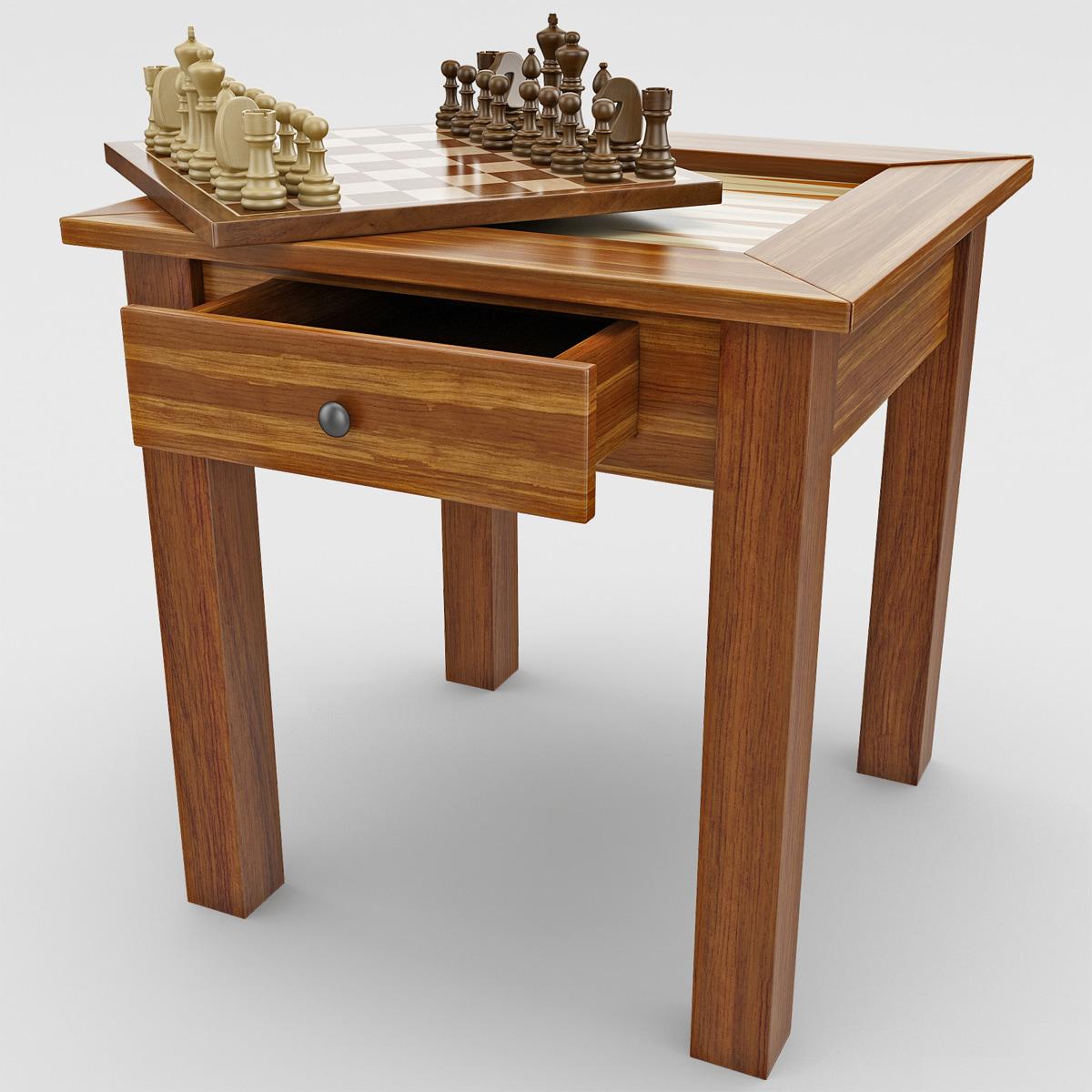 chess backgammon table max
