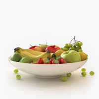 3d model fruit bowl