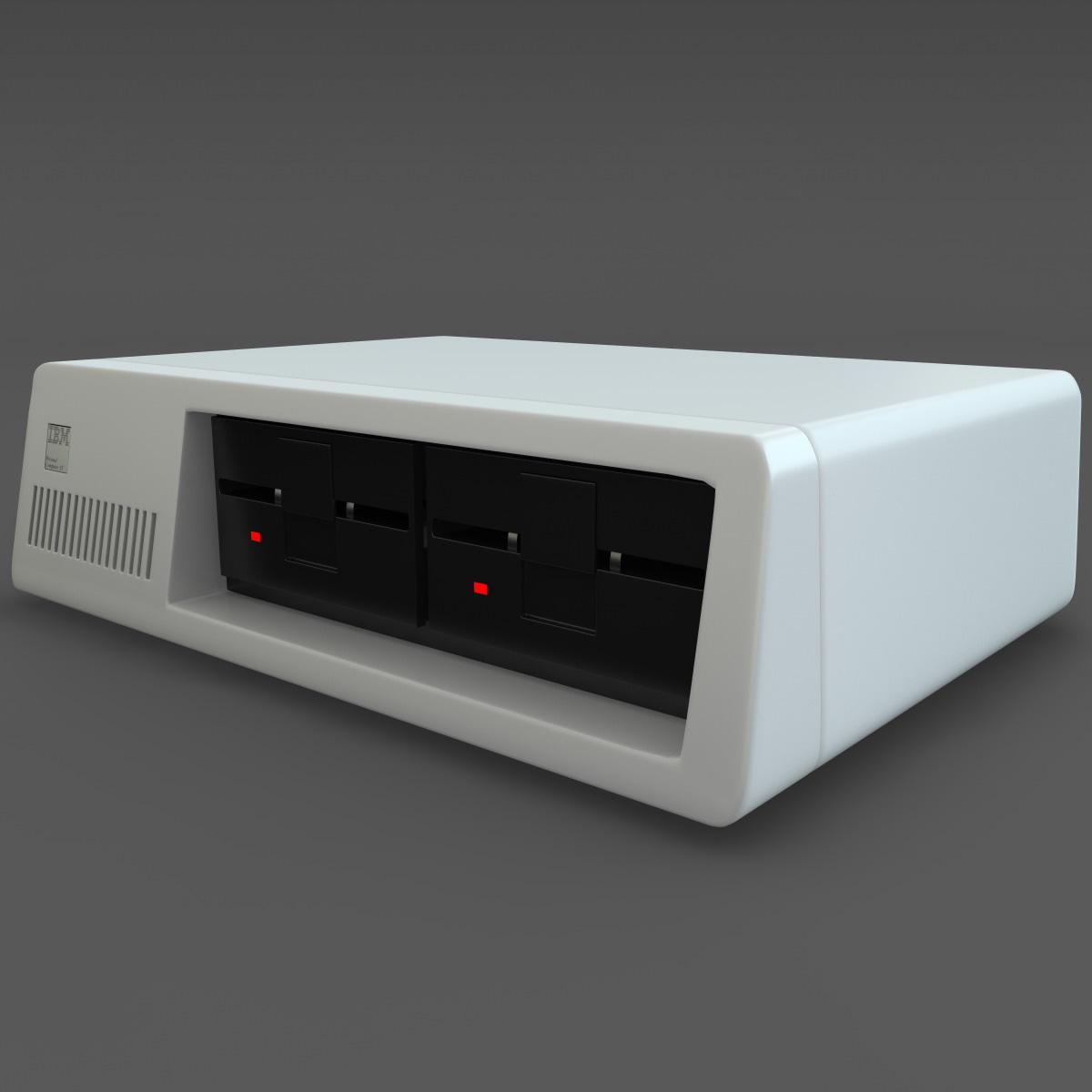 ibm pc xt computer 3d 3ds