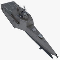 3d lcs-2 littoral combat ship