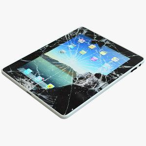 3d model of broken ipad