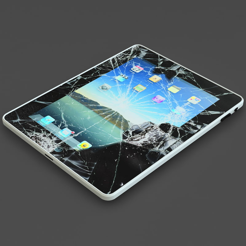 3d model of broken ipad