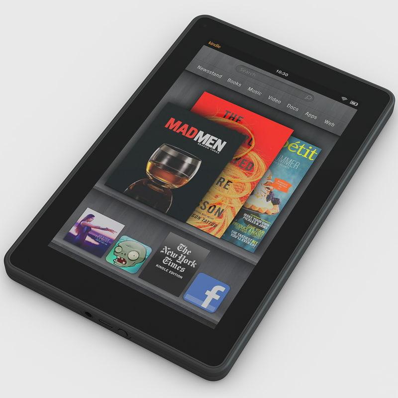 kindle tablet 3d model