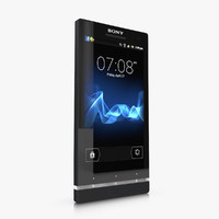 sony xperia sl smartphone 3d 3ds