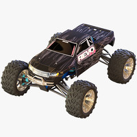 3d rigged car rc model