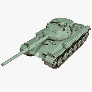 3d model swiss panzer 68 battle tank