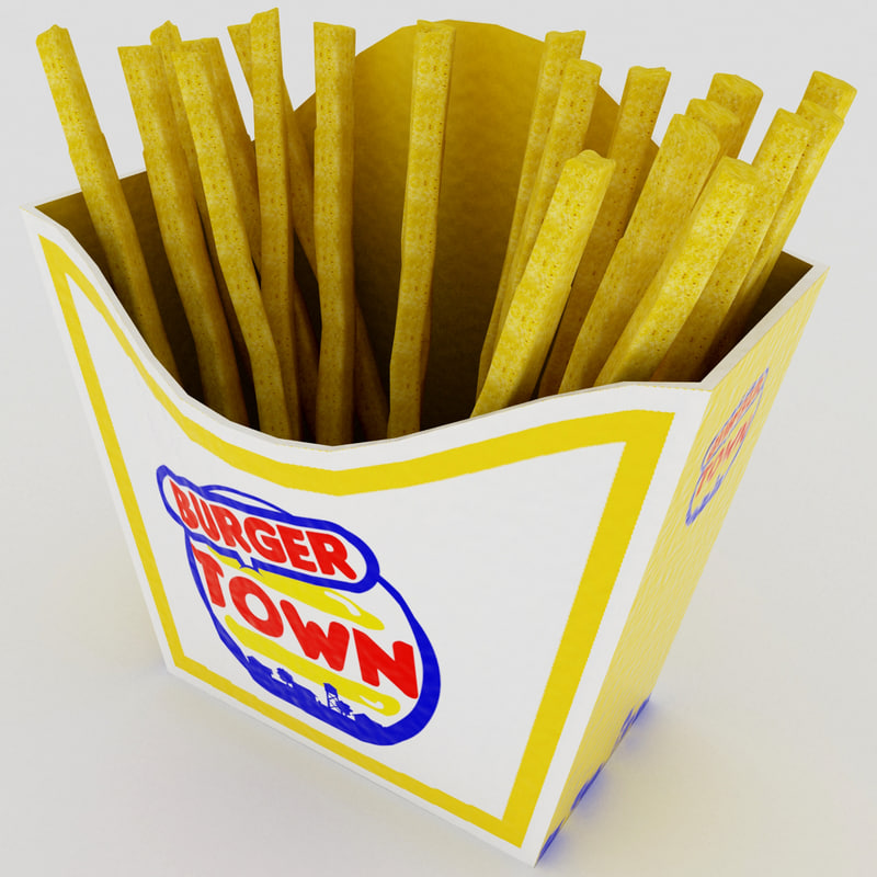 3d french fries s model