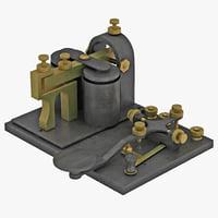 telegraph key 3d max