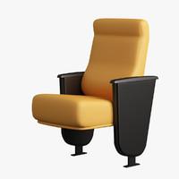 3d model armchair arm auditorium