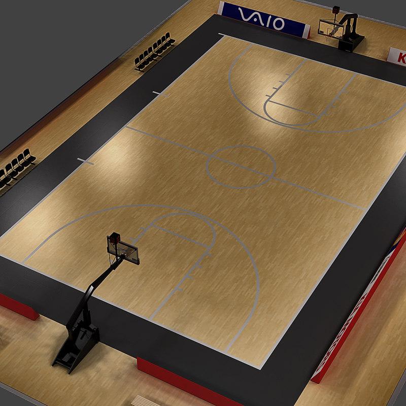 3d basketball court model