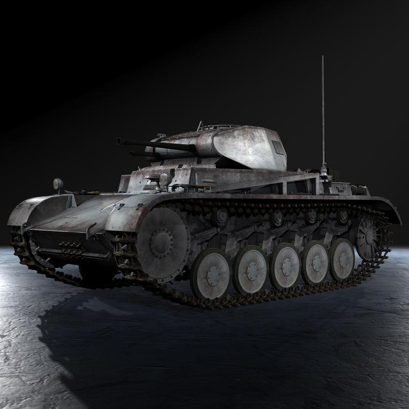 3d fbx german panzer kampfwagen ii
