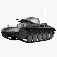 German WWII Panzer Kampfwagen II Ausf C Light Tank