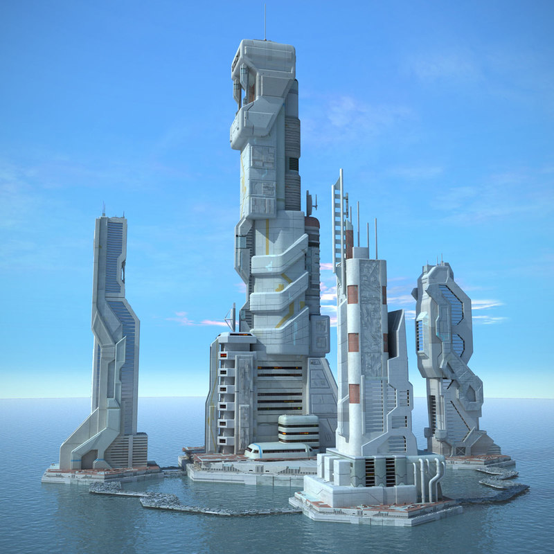 3ds max sci fi futuristic city