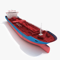 3d ship cargo oil tanker