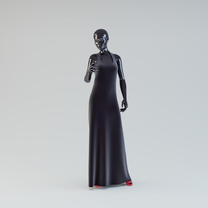 showroom mannequin 04 3d max