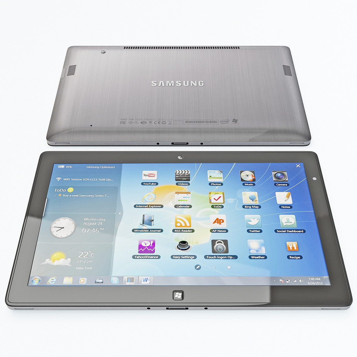 3d model samsung series 7 tablet