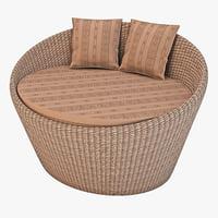 wicker sofa 2 3d max