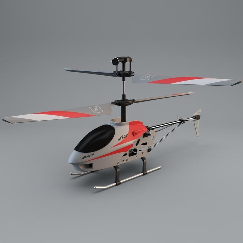 3d model utmost mini helicopter