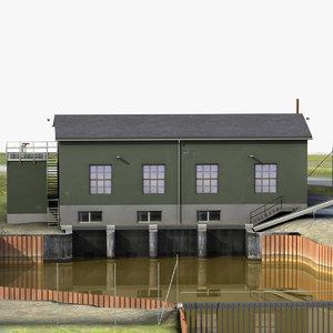 pumpstation pump 3d model