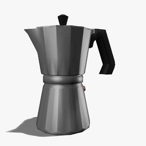 italian coffee kettle 3d max