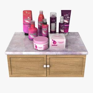 3d model cosmetics bottles packages