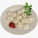 dumpling 3D models