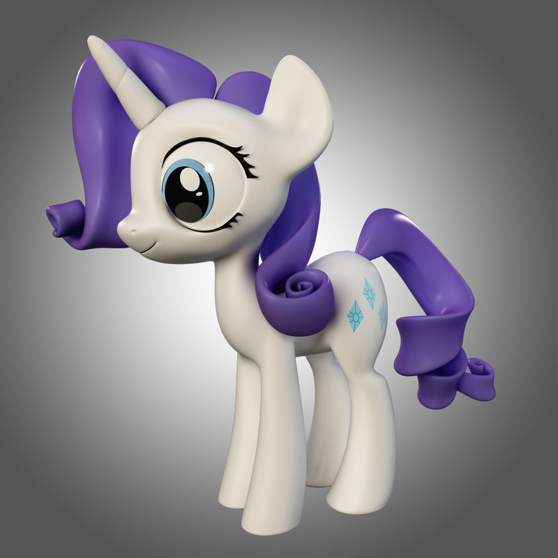 3ds max little pony rarity