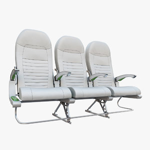 3ds max economy class airplane seat