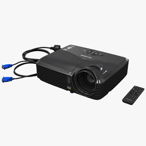 3d model hdmi projector viewsonic pjd5133
