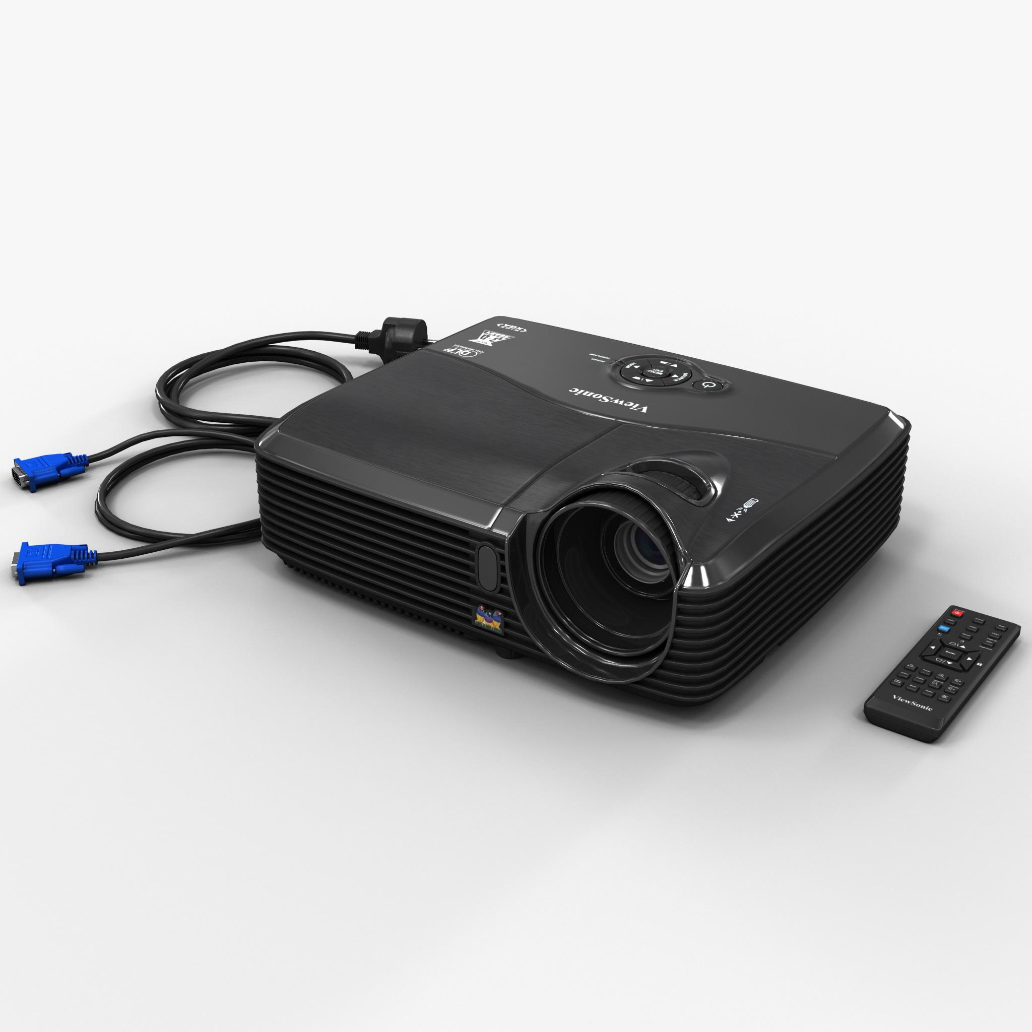 3d model hdmi projector viewsonic pjd5133