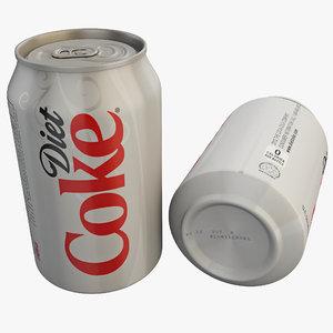 diet coke 3d obj