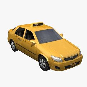 toyota corolla taxi cab 3d
