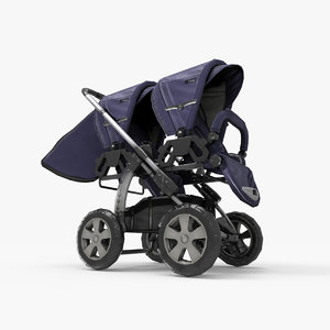 double stroller 3d model
